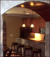 A basement finishing project by Atlanta's best remodeling contractors