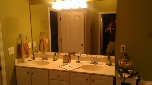 Bathroom remodel 'before' picture